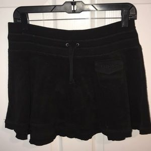 Bebe black cotton skirt